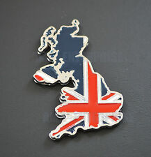 Chrome Metal Union Jack Britain Badge Emblem for Cars Vans 4x4 Quads Scooters