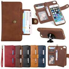For iPhone 12 11 X Samsung S20 Note 20 Magnetic 2 in 1 Leather Wallet Case Cover