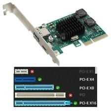 PCI-E PCI Express 4X to USB 3.1 2-Port Type-A+Type C Expansion Card Adapter