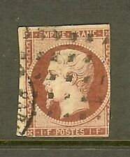 "FRANCE STAMP TIMBRE N° 18a "" NAPOLEON III 1F CARMIN FONCE "" OBLITERE A VOIR"