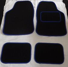 Car Mats Black and Blue trim mats for BMW E30 E36 E46 E39 E87 318i 520d Z1 Z3 M3