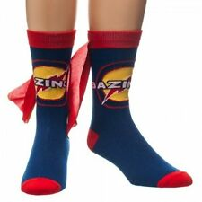 *NEW* The Big Bang Theory: Bazinga Blue/Red Crew Socks with Cape by Bioworld