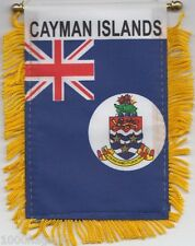 Cayman Islands 1958 to 1999 Flag Hanging Car Pennant Window or Rearview Mirror *