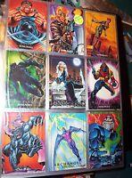 1992 1993 1994 MARVEL MASTERPIECES COMPLETE CARD SETS X-MEN JOE JUSKO WOLVERINE!