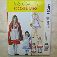 McCall's MP361 Girl's 4 Designs Costume Pattern 3-8 NEW