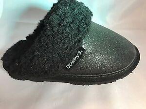 Girls Bearpaw Black Glitter Shoes/Slippers  Slip ON  Childs SIZE 10