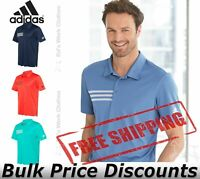 Adidas Mens 3-Stripes Chest Sport Shirt Polo Collar Top A324 up to 4XL