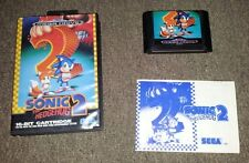 Sonic the Hedgehog 2 - Sega Mega Drive game (CIB) retro cart with box and manual