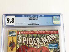 MARVEL COMICS Spider-Man #1 GREEN CGC GRADE 9.8 White Pages 8/90 MCFARLANE