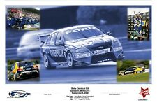Framed Ford Racing '06 Sandown Victory Signed Mark Winterbottom & Jason Bright