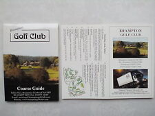 Bramton,Cumbria,Golf Course Guide + Score Card.2000?.New