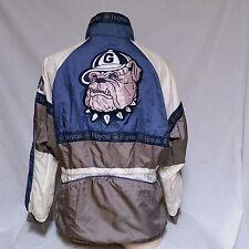 VTG Georgetown Hoyas Windbreaker Jacket 90's University Coat Colorblock Medium