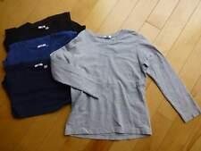 EUC Uniqlo Boys Long Sleeve Top Tee Shirt Set 130 x4 Bonus 150