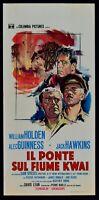 Plakat Die Brücke Auf Fluss Kwai William Holden Alec Guinness Hawkins A L36