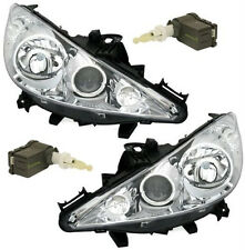 Chrome clear finish headlight front light set PAIR for PEUGEOT 207 cc from 2006