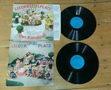 LP Schallplatte Musik Kinder DDR Litera Liederspielplatz 1 und 2