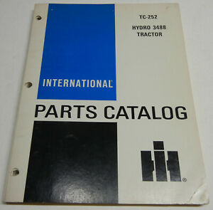 Farmall, International Hydro 3488 TC-252 OEM Factory Parts Catalog