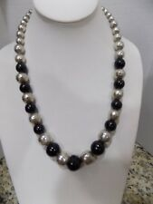 HUGE VTG TAXCO MEXICO 925 STERLING SILVER TC84 ONYX STERLING BALL NECKLACE 102 G