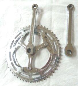 Vintage Bike Cranks 52/40T Peugeot 1970's - Solida, Nervar 133/135, Stronglight?