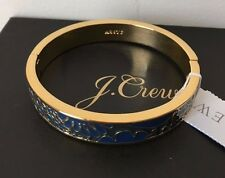 NWT Authentic  J Crew LACE INLAY CLAMP BRACELET Navy With J Crew Bag