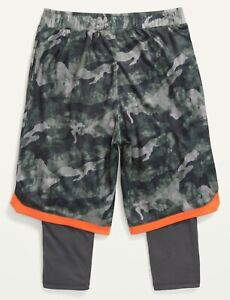Old Navy Boys Go-Dry 2-in-1 Mesh Basketball Shorts Green Camo ~Size M - XXL  $23