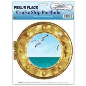 Cruise Ship Porthole Peel N Place Nautical Cruise Party Birthday Decoration