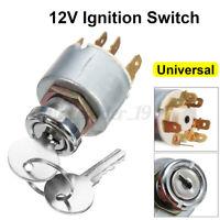 12V 4 Position Ignition Lock Cylinder Switch +2 Keys For SPB501 Car Motorcycle