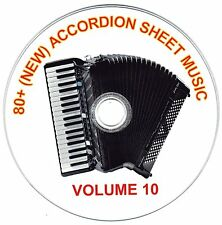80+ SONGS! - HUGE VINTAGE ACCORDION SHEET MUSIC COLLECTION! - CD#10 of 10