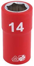 ORIGINAL DRAPER 1cm Carré Clé entièrement isolé VDE prise (14mm) 31697