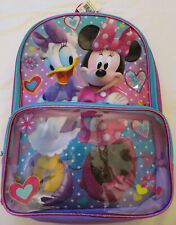NEW Disney Minnie Mouse & Donald Duck Backpack Purple Book Bag
