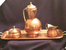 VINTAGE HAMMERED COPPER COFFEE/TEA SET