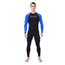 Men's One-Piece Diving Suit Long Sleeve Rashguards Snorkeling Surfing Swimsuit