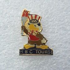 "1984 La Olympics Laooc Sponsor Pin ""Sam The Eagle - Hbc Tours"""