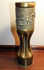Original Wwi Ww1 Trench Art Brass Shell Verdun Vase