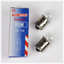 1Set=2St. Birne R5W 12V 5W Glühlampe 12931 TEC-PARTS Rücklicht Standlicht BA15S