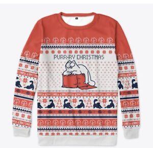Simon The Cat Christmas Sweater XL