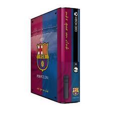 Xbox 360 E Go Console Skin Sticker FC Barcelona Official Barca Merchandise