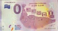 BILLET 0 EURO UTAH BEACH  .DAY 6.6.44   2017 NUMERO 5000 DERNIER BILLET