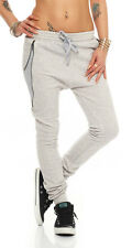 11007 Damen Haremshose Hose Jogg-Pants Baggy Boyfriend Sweat-Material