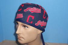 Cleveland Indians MLB Baseball Blue Scrub Hat Cap Medical Surgical Chef Chemo