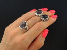 Cute Vintage Women Art Set Jewelry Ussr Soviet Sterling Silver 925 Earrings Ring