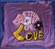 Original 1960 Hippie Hippy Vietnam War Era Betty's Blue Embroidery V-1
