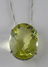 Sterling Silver Yellow Quartz Necklace/16.10 Gr.