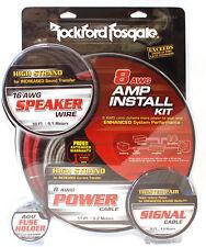 NEW Rockford Fosgate RFK8X 8 Gauge Amplifier Power Installation Kit