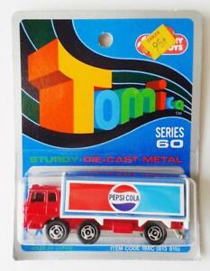 TOMICA DIE-CAST - FUSO PEPSI COLA TRUCK #7 mint GJ COLES made in JAPAN 1/127