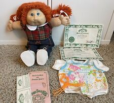 Vtg 1982 Coleco Canbage Patch Red Hair Blue Eyes + Papers + Accessories