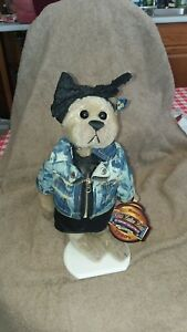 VINTAGE ROXY BEAR FROM 20th CENTURY COLLECTIBLES 1980's -BRASS BUTTON w/TAG