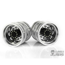 W-2012-B Lesu 1:14 Scale Tamiya Truck Metal Dual Rear Wheels Black (Pair) Boxed