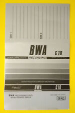 PR-6001 10 Custodie trasparenti Audio cassette MUSICASSETTE Audio Cassette