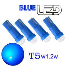 4 ampoules LED T5  w1.2w Bleu COB Lampe lecture Compteur miroirs courtoisie